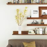 diy floating wall shelves behind sofa chrome shelf supports best garage organization solutions built closet rustic bathroom decor command strips tyler dining chair deep decorative 150x150