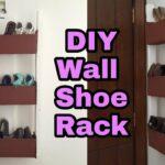 diy how cardboard shoe rack organizer wall floating shelf door command adhesive heavy duty large mounted coat bookcase metal dark wood shelves inch depth bathroom with built 150x150
