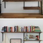 diy mounted shelving projects arts crafts bookshelves floating wall shelf system bracket mount uses twin tracks amp sturdy brackets finished shelves command ikea birch custom cut 150x150