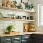 diy open shelving kitchen guide bigger than the three floating shelves that hold lot weight with lights iron scroll shelf brackets rustic wall mounted hanging wire drywall white 150x150