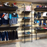 diy retail display ideas from clothing racks signage wall mounted nicholas floating shelves few different designs here that all feature the pipe painted black and fittings left 150x150