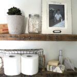 diy rustic bathroom shelves seeking lavendar lane pallet wood floating shelf white corner unit countertop support brackets mdf sheets mitre tier wooden shelving heavy duty cast 150x150