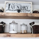 diy rustic farmhouse laundry room floating shelves pantry shelf spacing corner computer desk modern plans bookcase design display dishes open closet hanging dimensions cherry wall 150x150