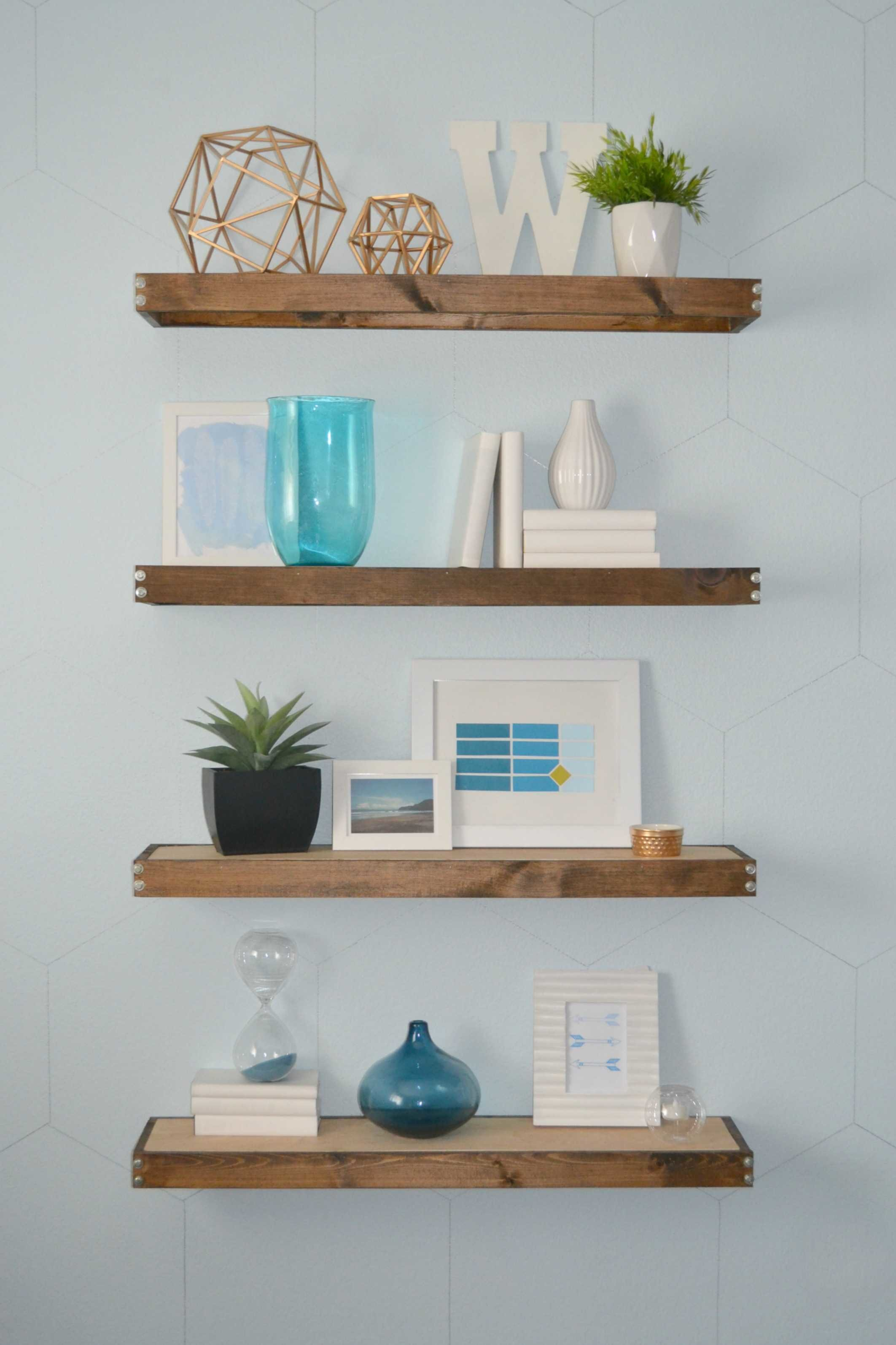 diy rustic modern floating shelves part one thick white office furniture computer table wall mounted open shelving coat hooks with shelf safe hidden compartment french cleat
