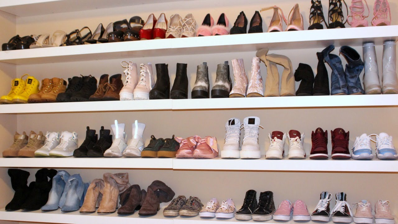 diy shoe wall floating shelves for shoes glass shelf design wardrobe kmart brackets metal bathroom laying vinyl tile uneven floor desk plans command coat hanger slim corner