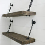 diy turnbuckle shelf great bathroom addition lolly jane hardware kit floating brackets check out these pretty shelves tutorial for easy ledge set support systems beam mantles 150x150