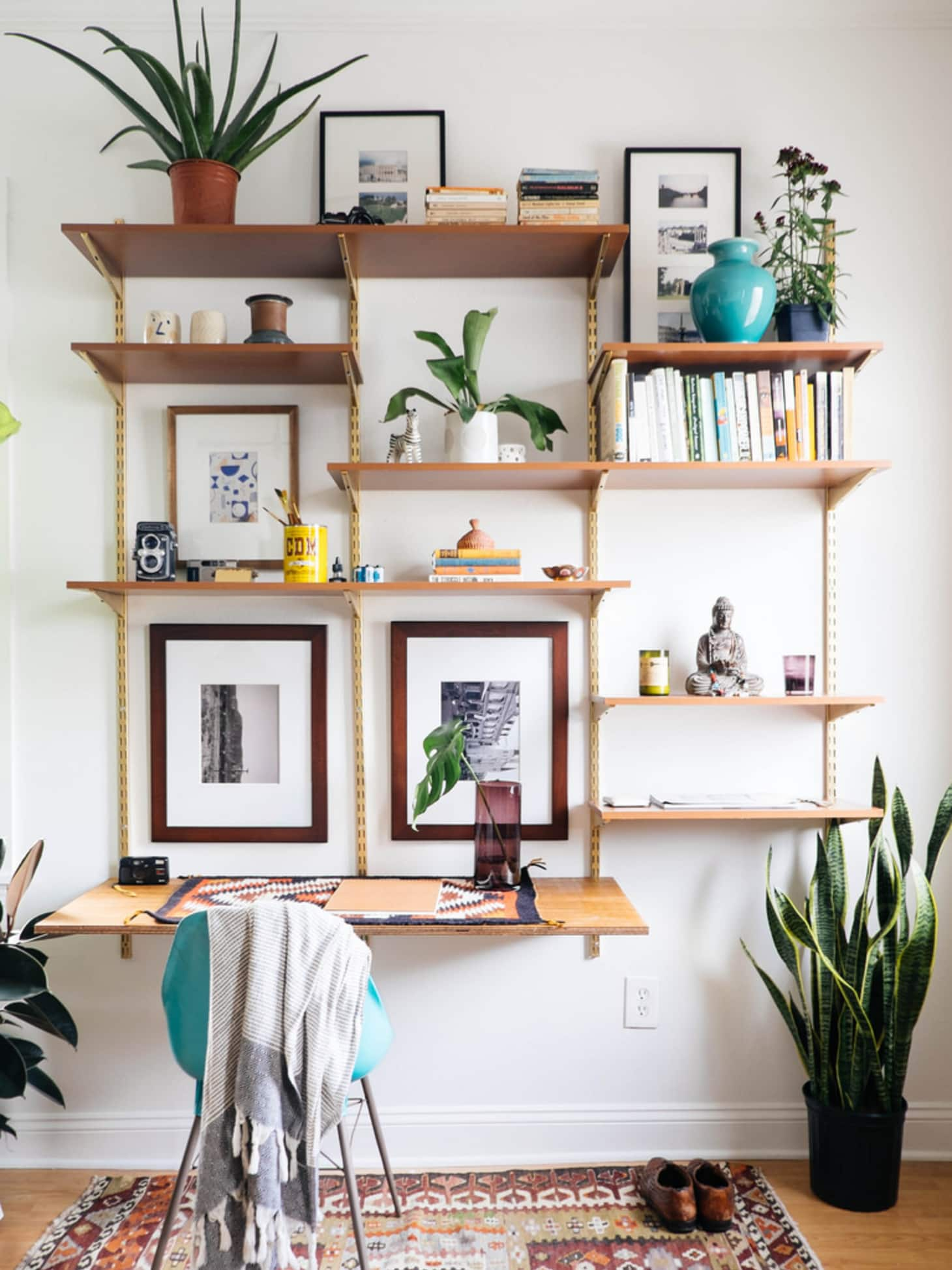 diy wall mounted shelving systems roundup apartment therapy floating shelf over desk you can dark wood bookcase best ergonomic office chair garage storage walnut cube shelves free