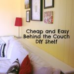 duck creek diy and easy but sturdy behind the couch shelf behindthecouchshelf floating shelves sofa fireplace mantel with bookcases open bathroom storage quick hangers deep wall 150x150