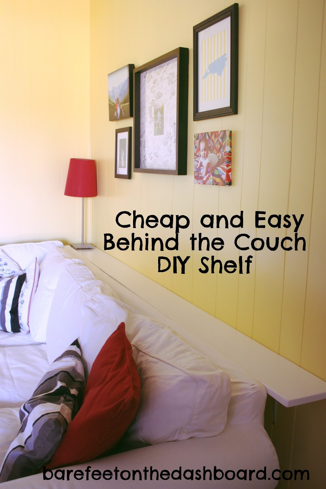 duck creek diy and easy but sturdy behind the couch shelf behindthecouchshelf floating shelves sofa fireplace mantel with bookcases open bathroom storage quick hangers deep wall