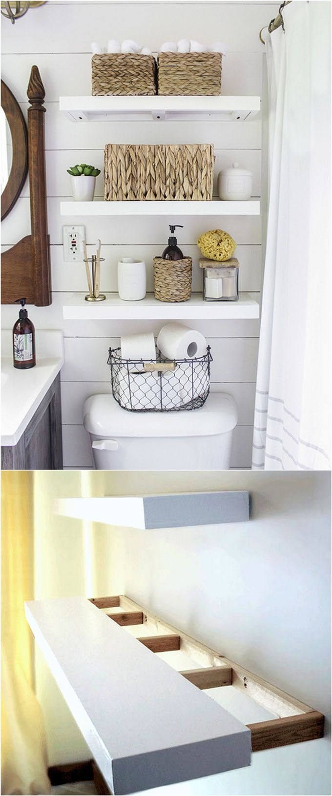 easy and stylish diy floating shelves wall hometalk bathroom tutorials building beautiful check out all the gorgeous brackets supports finishes design inspirations space between