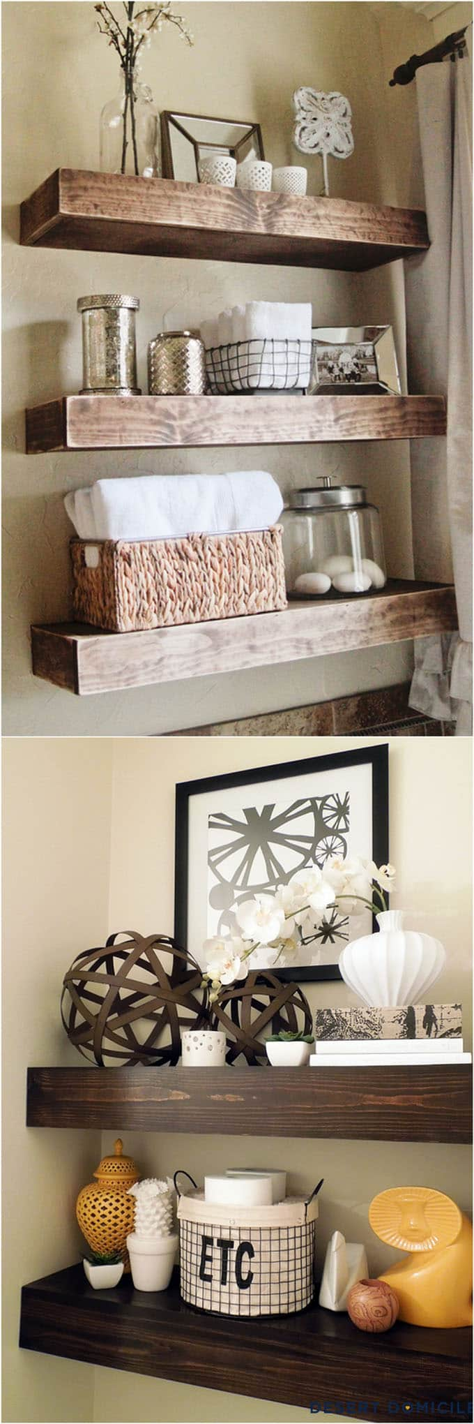 easy and stylish diy floating shelves wall piece apieceofrainbow building tutorials beautiful for your home check french kitchen rack bathroom hooks ture ledge bookshelf shelf