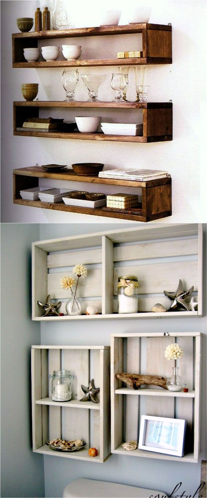 easy and stylish diy floating shelves wall projects box ideas piece rainbow under shelf bracket racking drawer walnut tier garage storage design entryway bench coat rack ikea