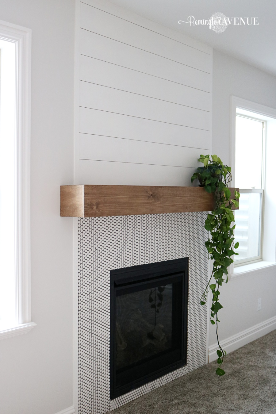 easy diy wood mantel remington avenue wooden floating shelf course real chunk would hundreds dollars naturally chose make own was actually way easier then imagined oak corner