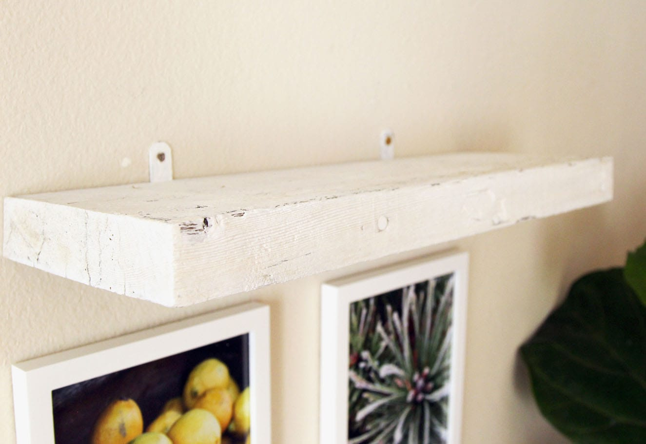 easy faux diy floating shelves minutes piece rainbow wall shelf apieceofrainbow without screws screw the brackets and onto because there are only tiny bits showing very each hide