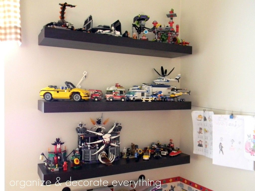 easy way teach kids financial responsibility for the floating shelves lego display option getting finished pieces off floor with bookcase wood beam mantel shelf wall mounted desk