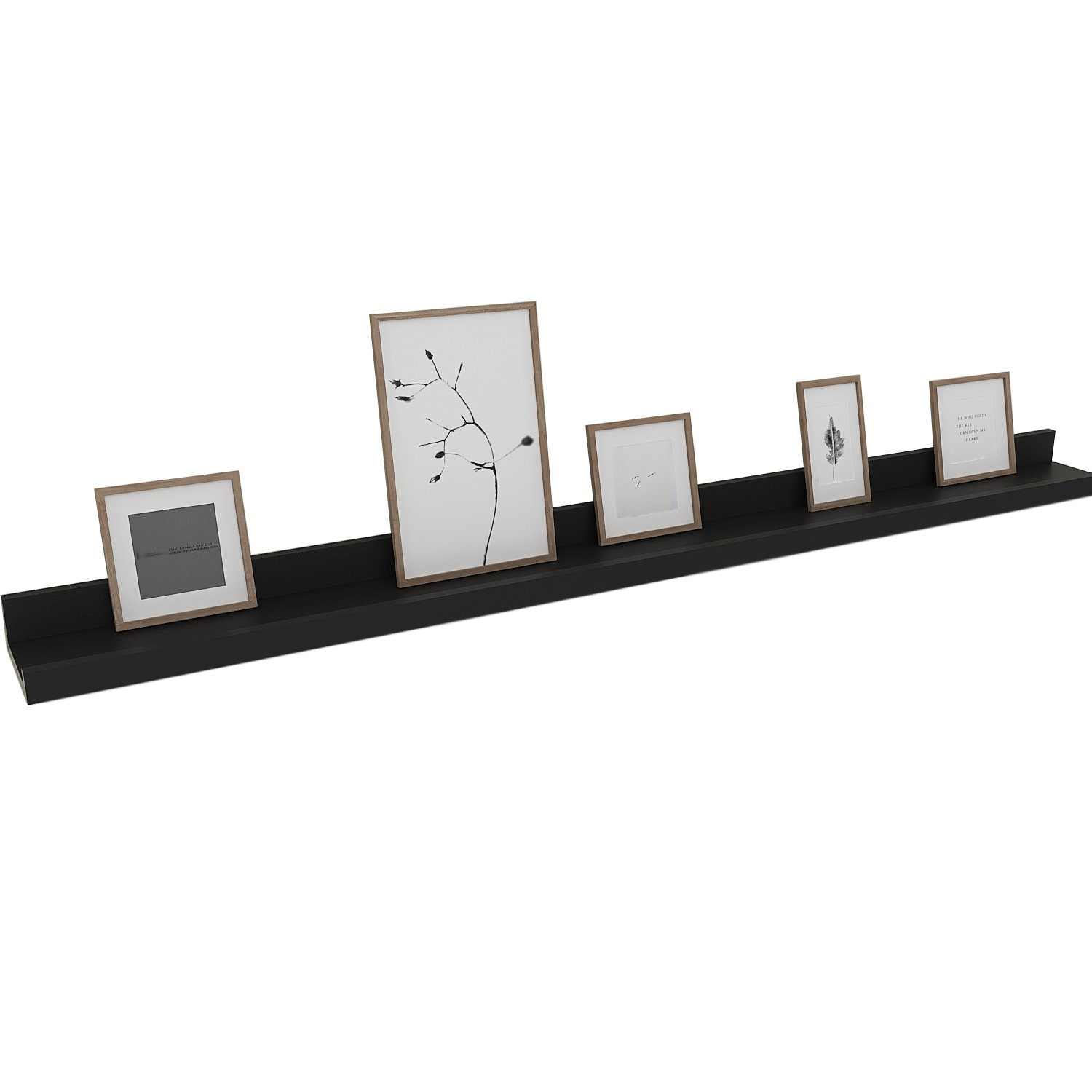 egotrade contemporary wall mounted shelf long floating black for ture frames book display kitchen home phone mount lack shelving unit oval countertop basin ematic bathroom sink