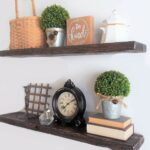 ella max rustic wood floating shelves set dark with hidden brackets walnut inches home kitchen shelf board racks and railroad tie mantle wooden fire glass screwfix little bathroom 150x150