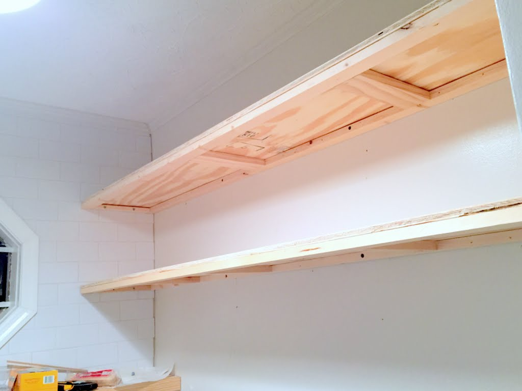 finally how create long deep floating shelves that aren bulky thin extra shelf microwave console wall oak open hidden storage house printer mount wood beam mantle diy bathroom