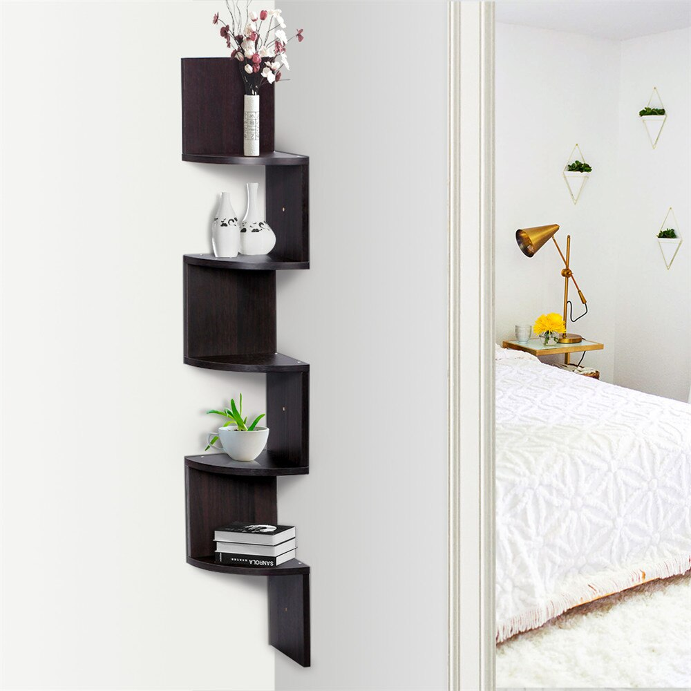 finether tier zig zag floating wall corner shelf unit mounted shelving bookcase storage display organizer organizador command strips hooks wooden cube shelves office furniture