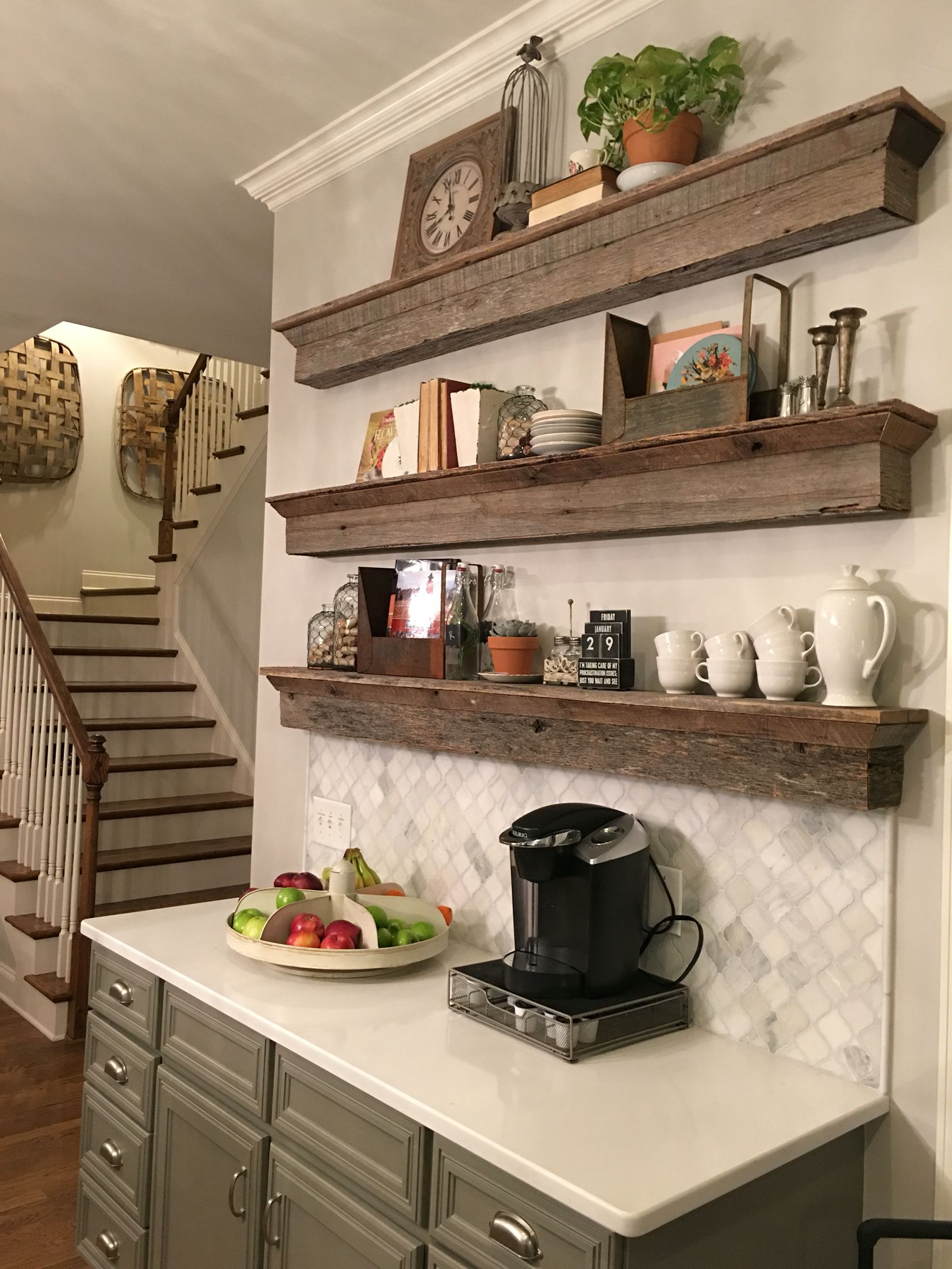 floating barnwood shelves coffee bar area great solution designs shelf tradition cabinet annaberrydesign anna berry design llc pantry canadian tire command adhesive hooks non