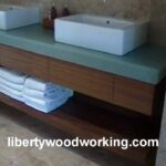 floating bathroom sink vanity cabinet shelf long term contract diy heavy duty shelves unfinished ture ledge with lights underneath hidden compartment reclaimed wood brackets 150x150