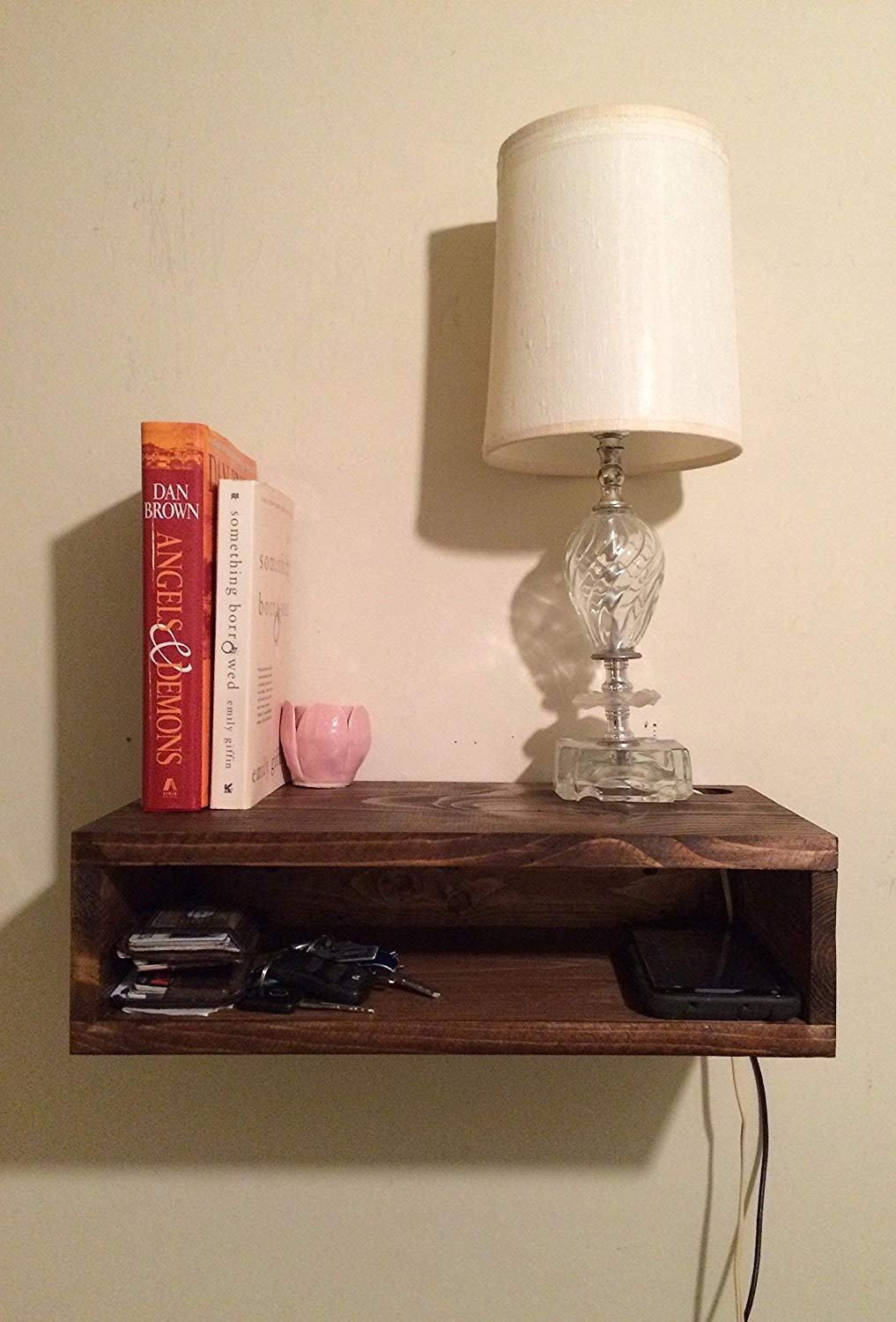 floating bedside table rustic nightstand barn wood with drawer and shelf style wall bedroom console shelves black ledge installing drywall anchors etsy brackets self adhesive