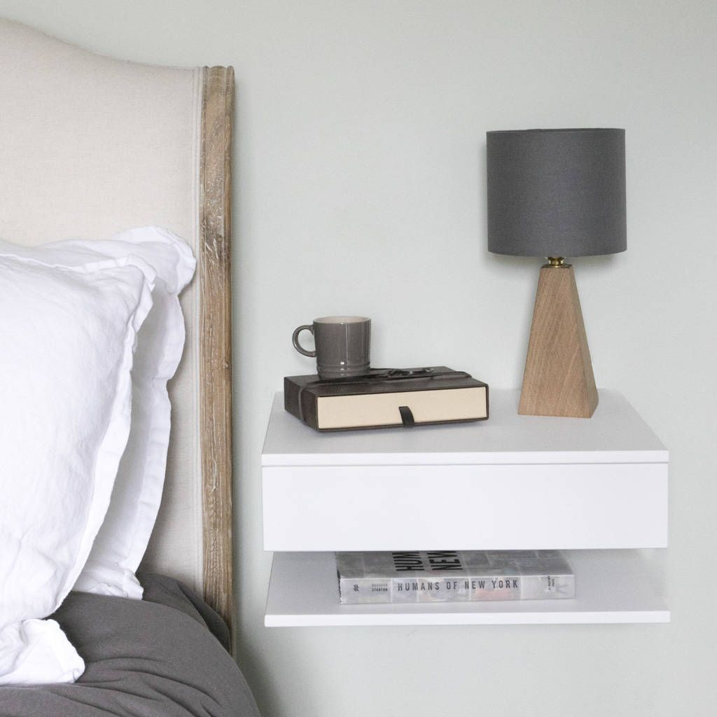 floating bedside table with drawer and shelf homeiswheremy urbansize notonthehighstreet television cabinet doors inch high shelving small desk white glass shelves target home