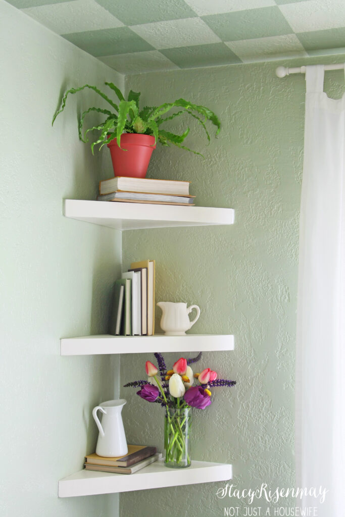 Floating Corner Shelves Stacy Risen Inch Shelf Shleves Narrow Shoe