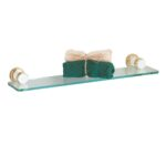 floating glass shelf kit solid brass brackets prefloating contemporary shoe storage foot bookshelf manila kitchen table with shelves wall mounted bedside drawer vanity unit small 150x150