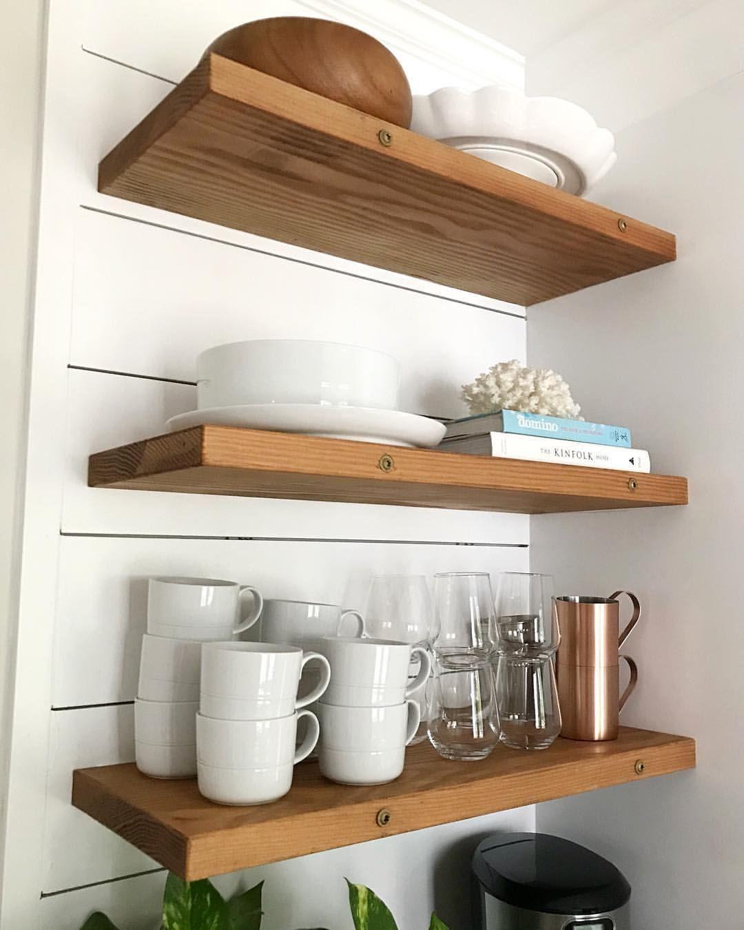 floating kitchen shelves with white dishes kitchenshelves for shelfstyling shiplap fire surround black glass wall shelf dinnerware storage rack best closet design narrow ikea