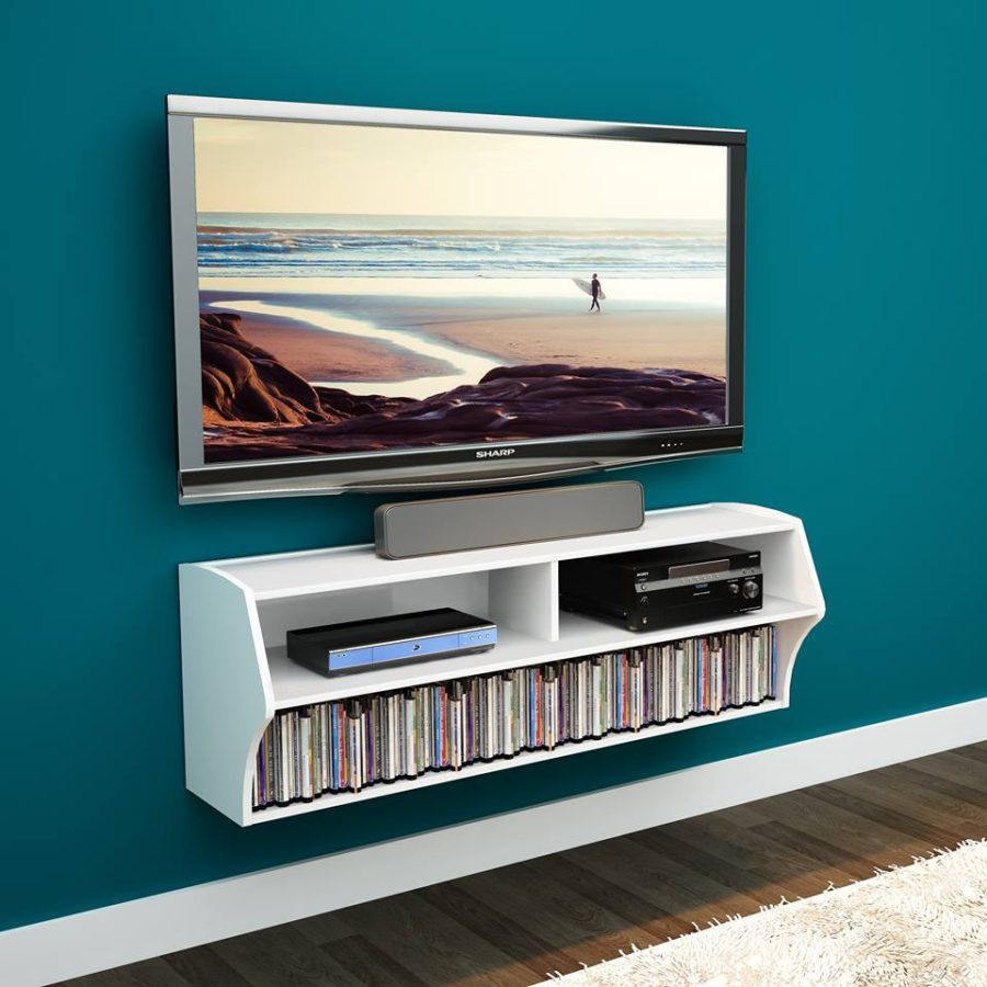 floating media center designs for clutter free living room altus wall mounted entertainment prepac shelves system view gallery doorless cupboards small office desk shower base