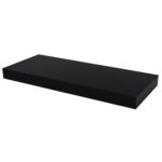 floating shelf high gloss black lacquered pekodom bedroom wall rack built shoe organizer shelving brackets cape town garage systems floors for you hallway storage ideas mounts 150x150