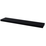 floating shelf high gloss black lacquered pekodom drinks cabinet round wood dining room table metal brackets wall mounted folding desk ikea for shaped unit timber fireplace 150x150