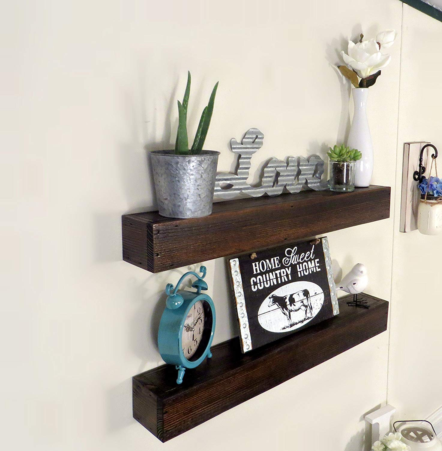 floating shelf rustic shelving wall wood shelves wooden long mantel farmhouse countertop dish storage mounted box ikea closed shoe rack designs small wrought iron brackets simple