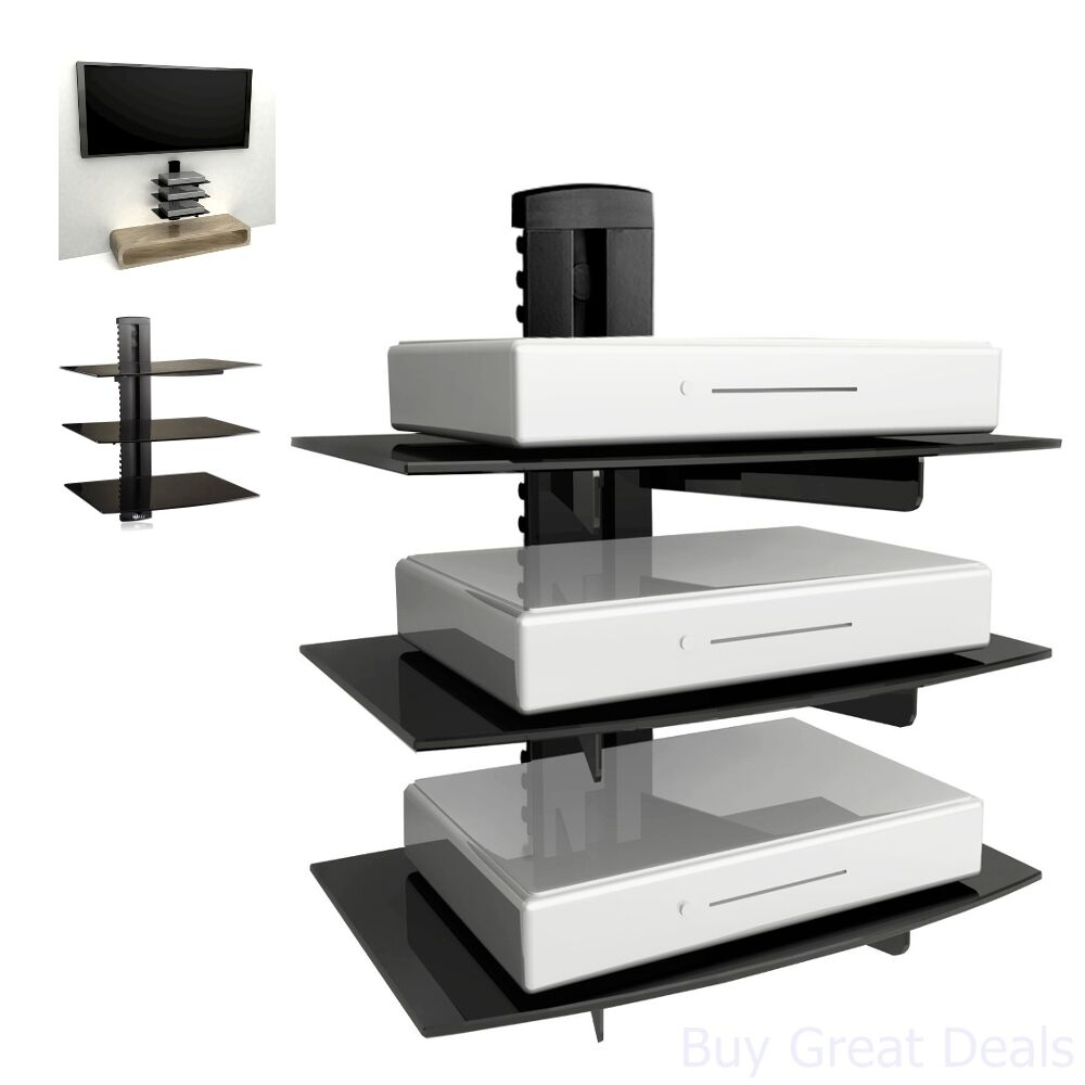 floating shelf wall mount accessory shelves dvd cable box gaming for and player console new invisible bookshelf tower lighting ideas ikea table sconce mounted glass shelving unit