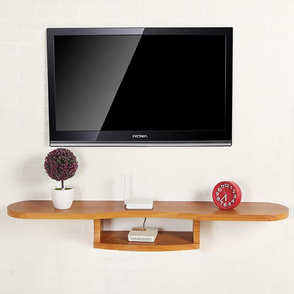 floating shelf wall mounted cabinet background shelves for dvd player set top box wifi router console stand multifunctional display color black decorative brackets affordable