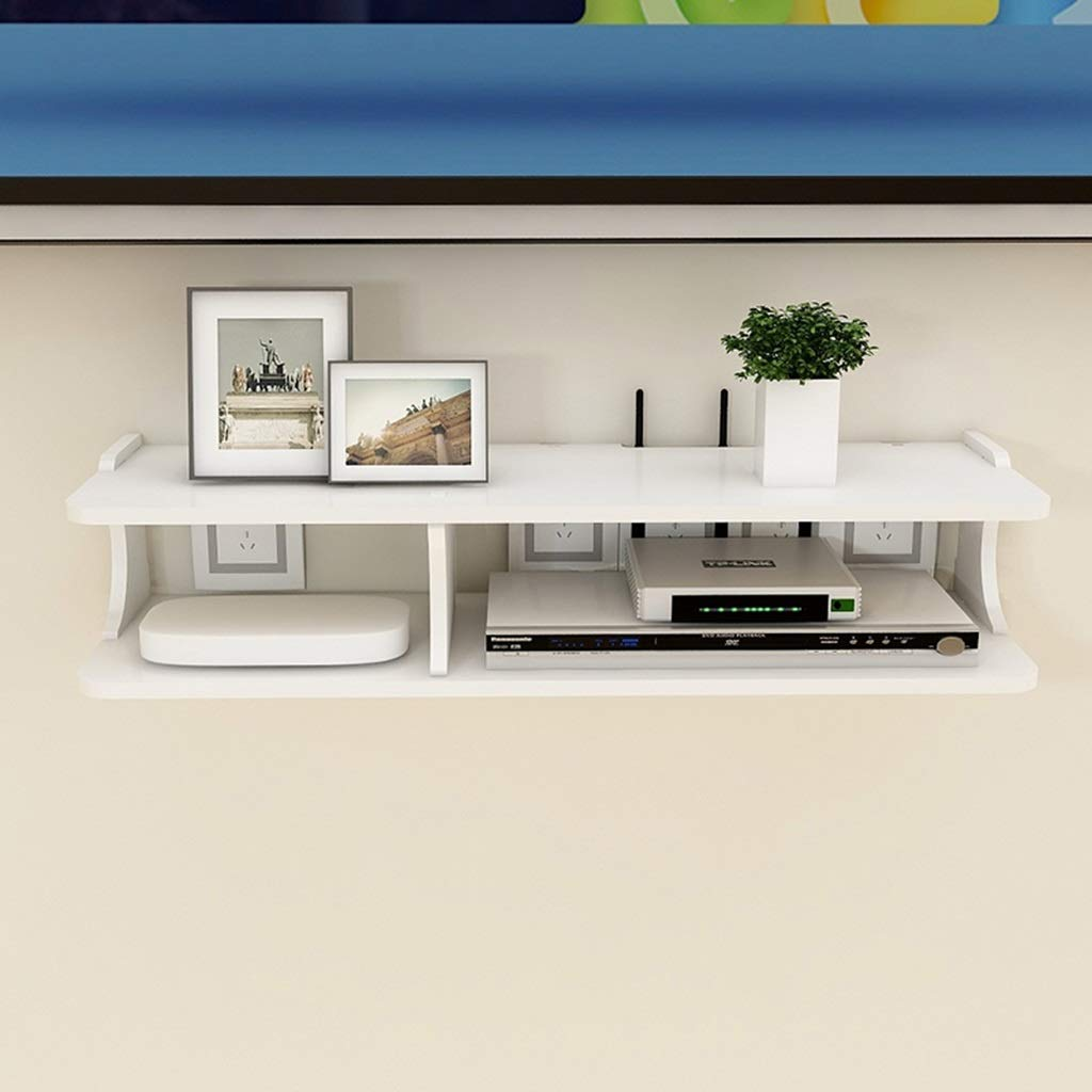 floating shelf white wall cabinet for cable box stand set top console storage unit organizer size unfinished pine shelves non marking hooks phone mount shelving decorative bath