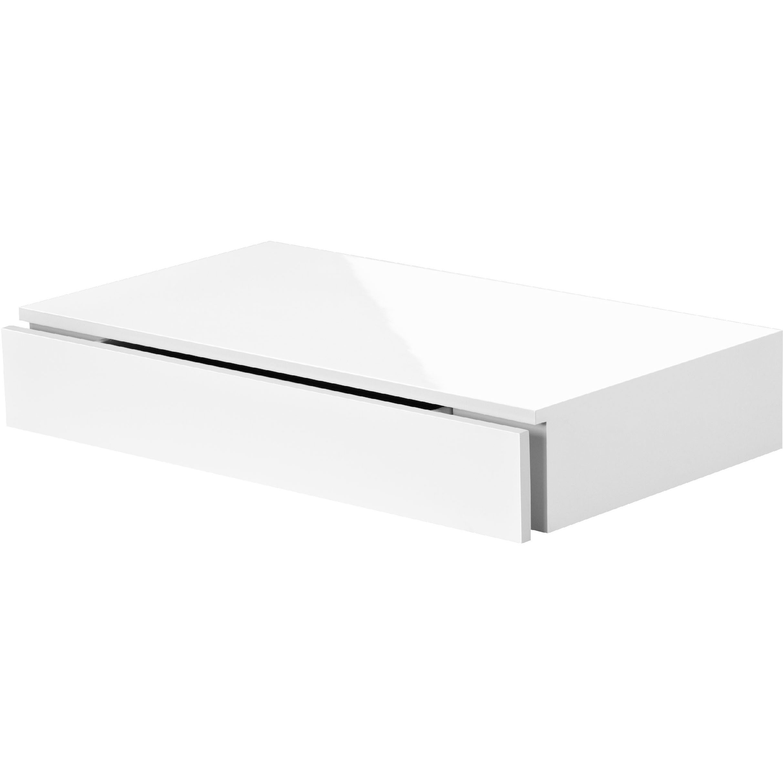 floating shelf with drawer mastershelf cassetto wei hochglanz black gloss white wall mountable desk wooden mounted bookshelves dvd cabinet corner support kitchen cart ideas metal