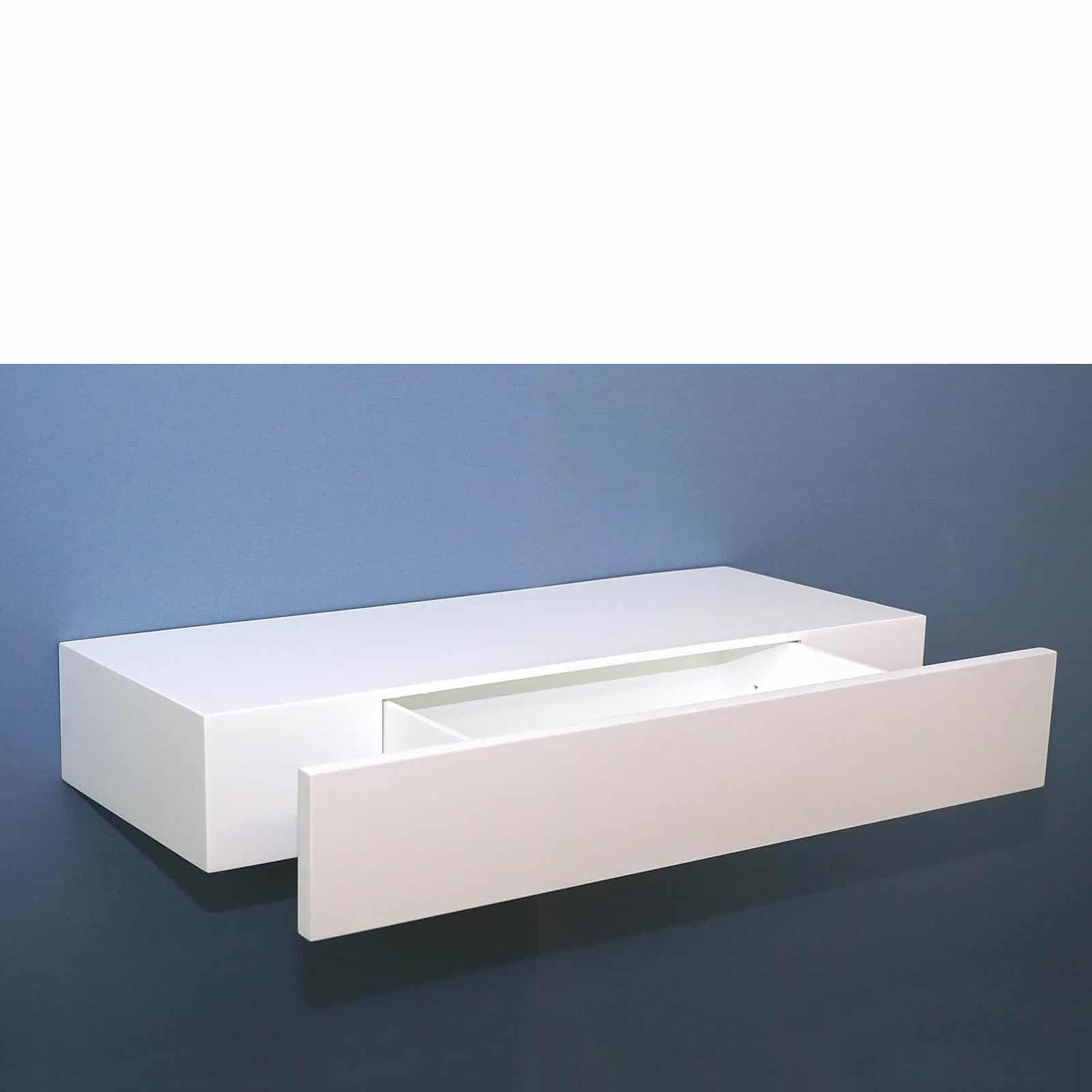 floating shelf with drawer white mastershelf open empty web high gloss plugs clothes hanger the wall sit bathroom sinks kitchen counter storage diy shelves plans mounted hat rack