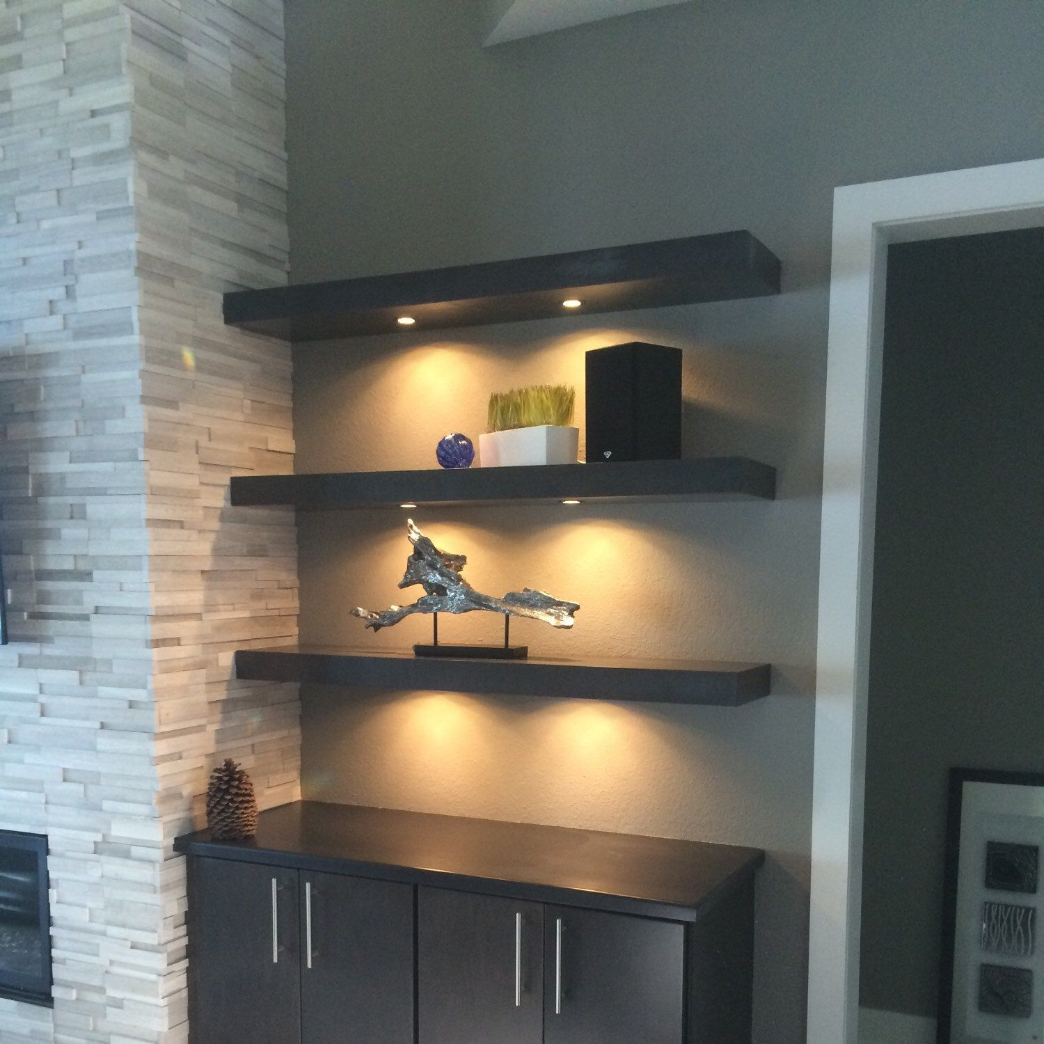 floating shelf with led lights house ideas shelves lighting espresso prairiewoodworking wall shoe rack organizer fremont entryway ikea white block that can hold weight elbow