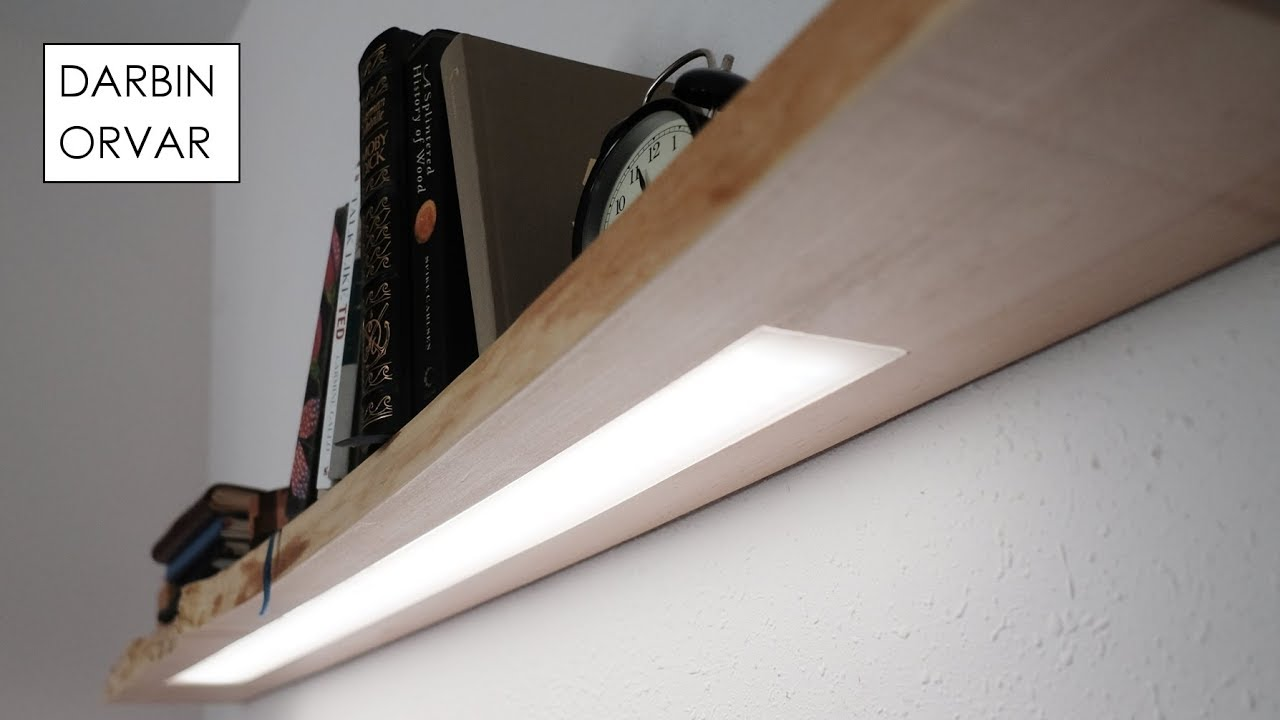 floating shelf with light household hidden led lighting intended for white shelves lights architecture attractive modern rechargeable illuminated wooden regarding raw timber desk