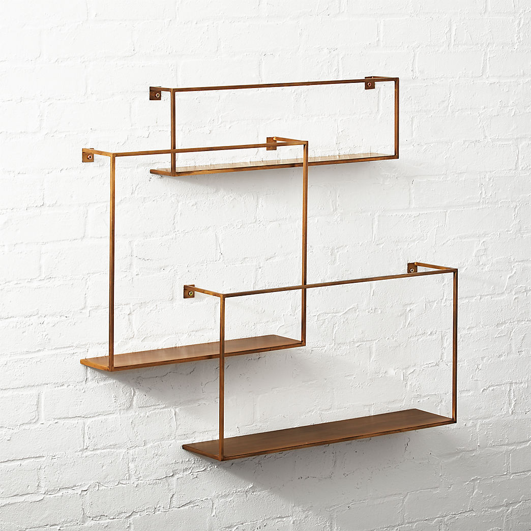 floating shelves antiqued brass set modula joinery french cleat for shelf next cashmere white granite ikea media wall garage storage hooks decorative items installing vinyl tile
