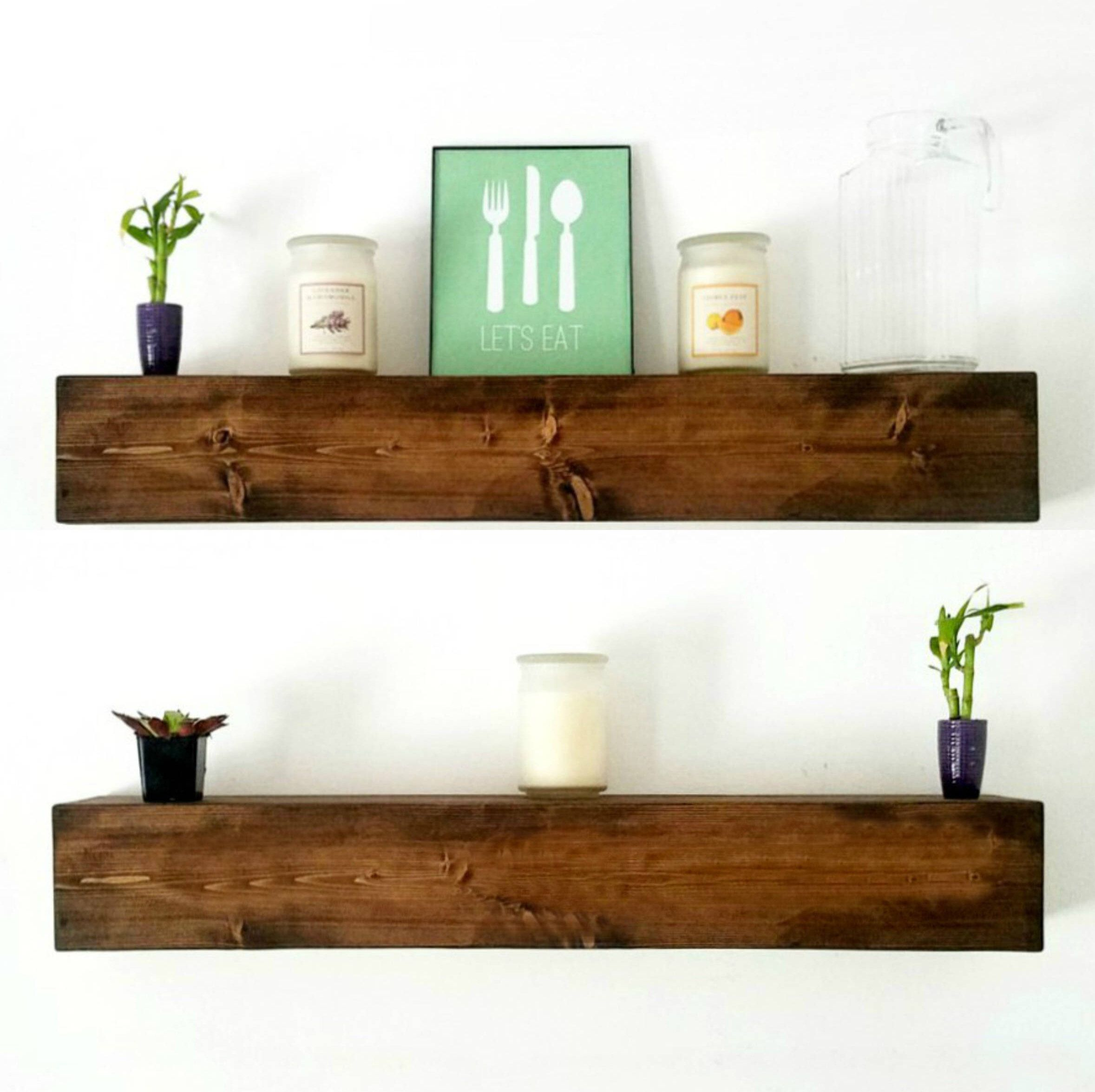 floating shelves boys room wood chunky shelf with drawer rustic kitchen farmhouse decor racks wall storage homebase cupboards threshold installation unit doors how much can