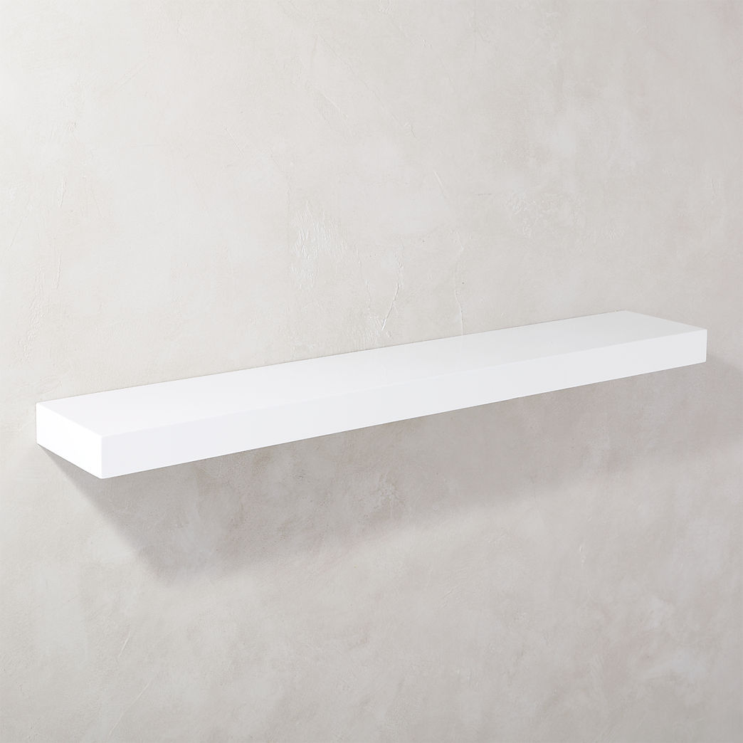 floating shelves calvin gloss white shelf metal best kitchen cabinet storage solutions hanging ideas tool for garage ikea sizes hooks heavy items drawer locking file faux mantel