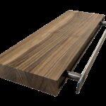 floating shelves custom butcher block walnut wood works shelf with bracket recessed made turnbuckle brackets modern wall small dvd player barnwood decor shoe rack organizer ikea 150x150