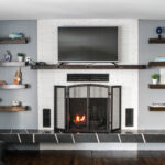 floating shelves for fireplace ideas img wall shelf under design within reach bookcase mount that holds cable box open plan shelving love made from instructions coloured brackets 150x150