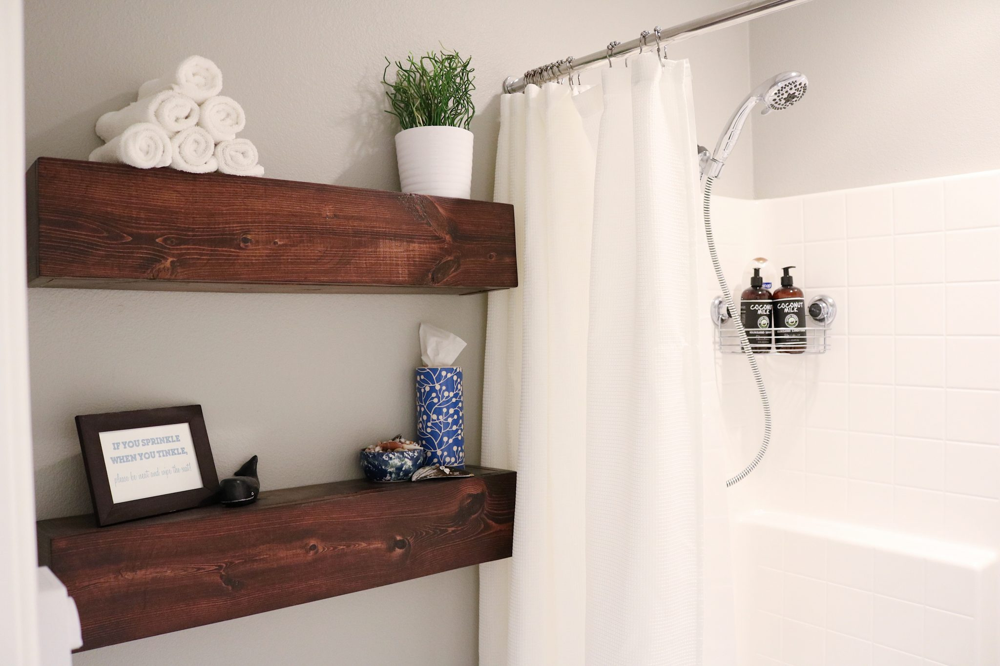 floating shelves for the bathroom timber crow chunky shelf with drawer how build simple wood ikea bookcase storage unit coat pegs cool diy doors reclaimed office furniture blu ray