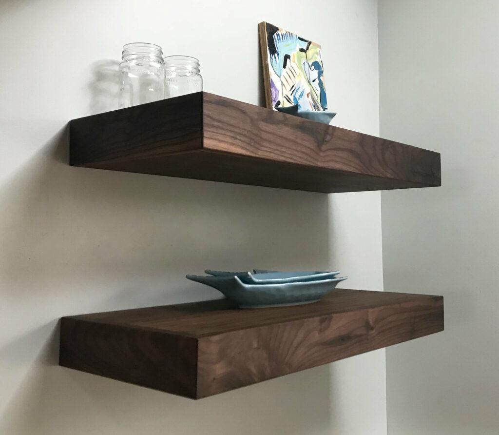 Floating Shelves Kitchen Walnut White Oak Mahogany Etsy