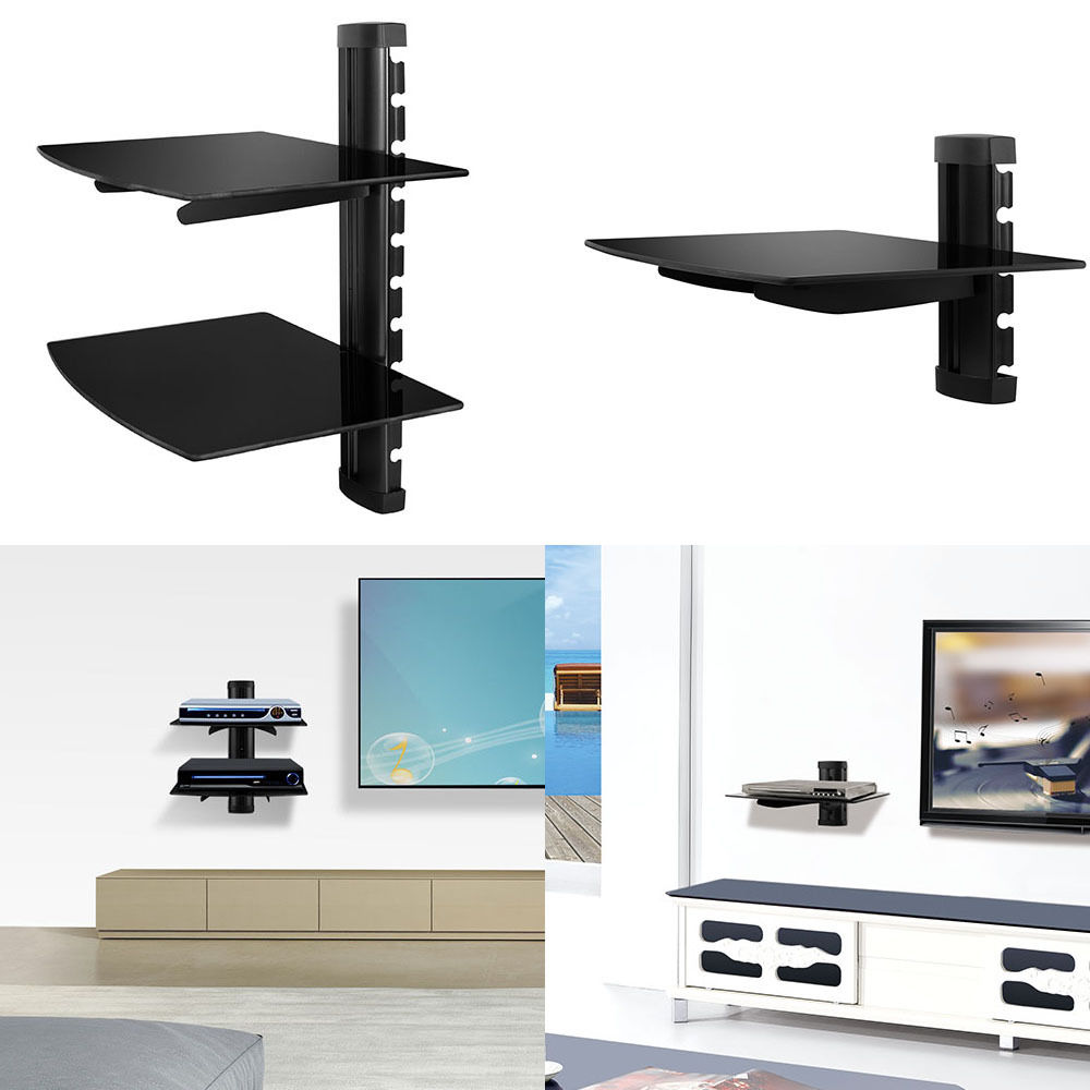 floating shelves large wall mount tempered glass accessories for dvd player details about white shelf set kitchen hanging cabinet design tures big shoe black shelving unit mens
