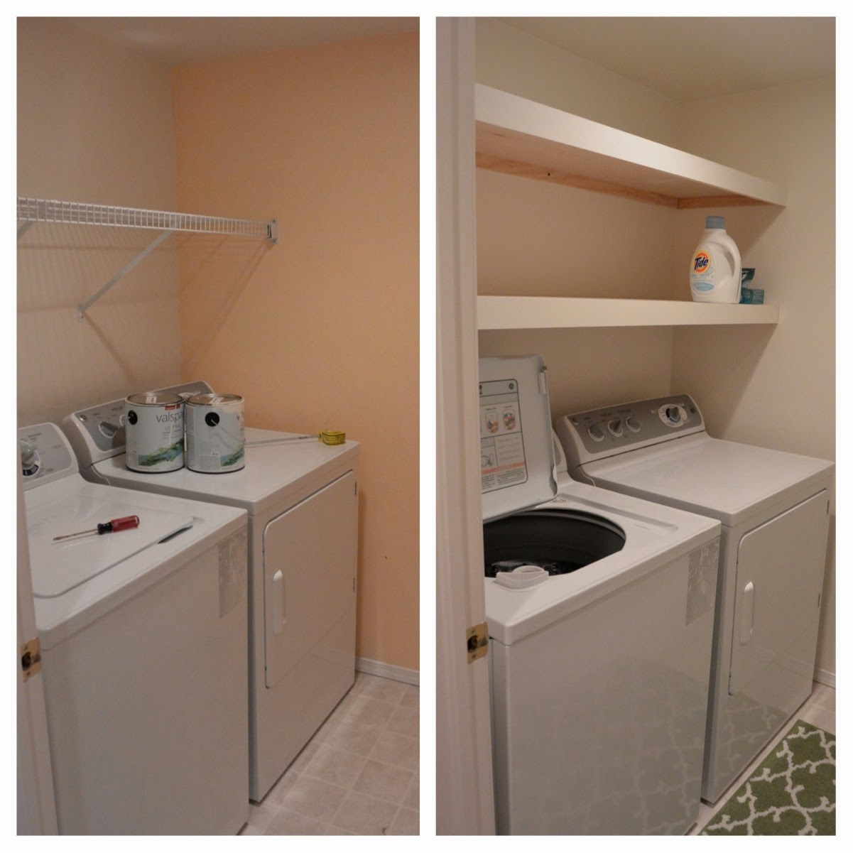 floating shelves laundry room thechurchoffashion beforeafter mom diy kitchen self ikea corner desk cabinet display dishes open oak fire shelf bookcase design cherry wall unit coat